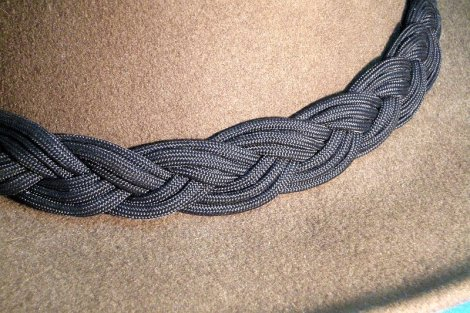 A Dressier Black Turk's Head Hat Band